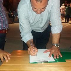 La firma di Vito Fanelli dell'Associazione Italiana Diabetici