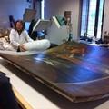 La tela di Carlo Rosa in laboratorio