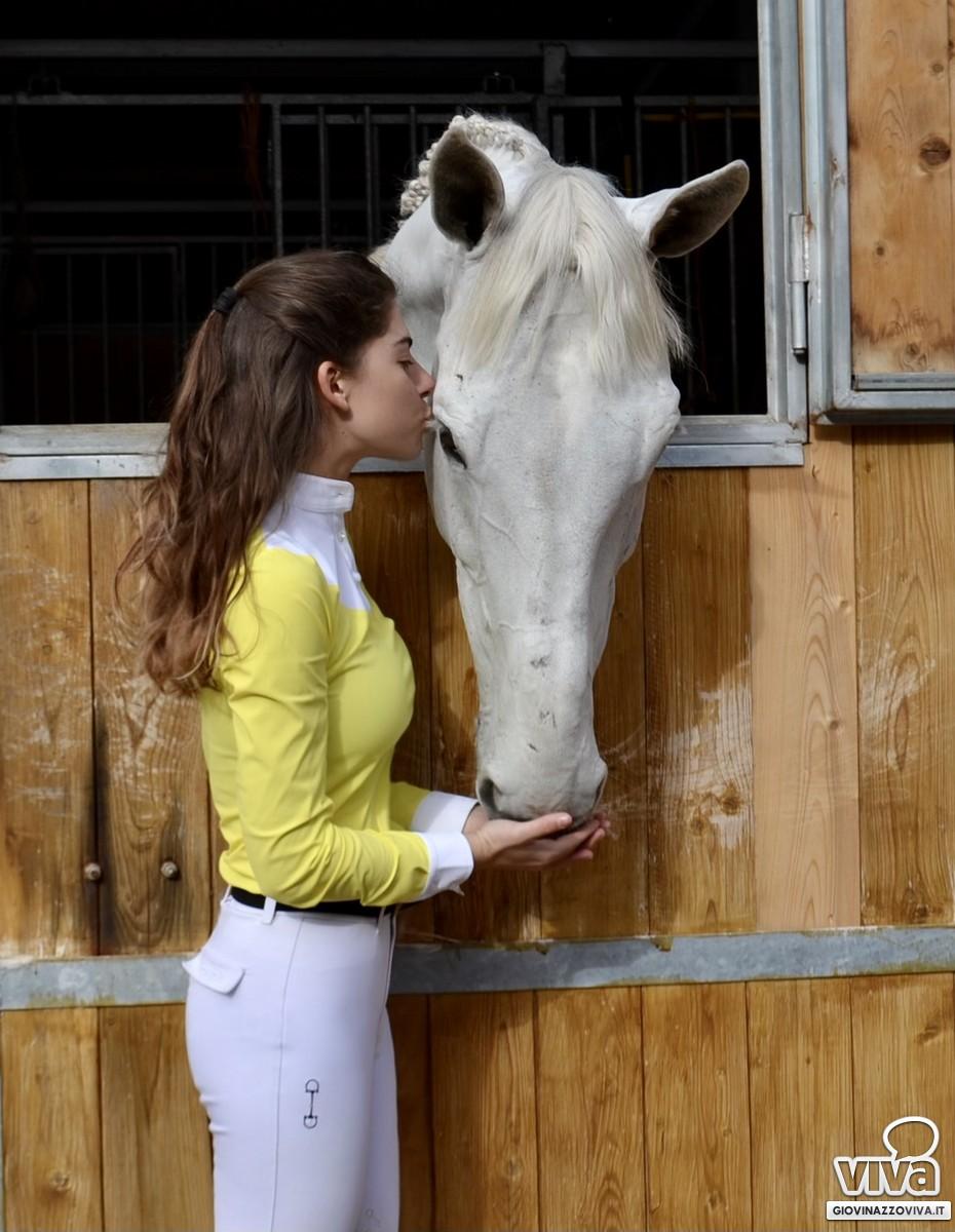 Kella del Prete ed il suo cavallo