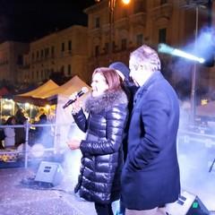 Sul palco di piazza Vittorio Emanuele II