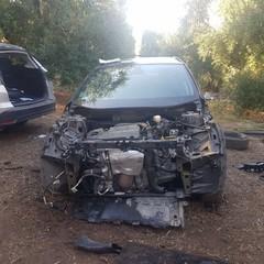 Le auto rubate rinvenute ad Andria