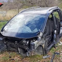 Una delle due auto recuperate dai Carabinieri
