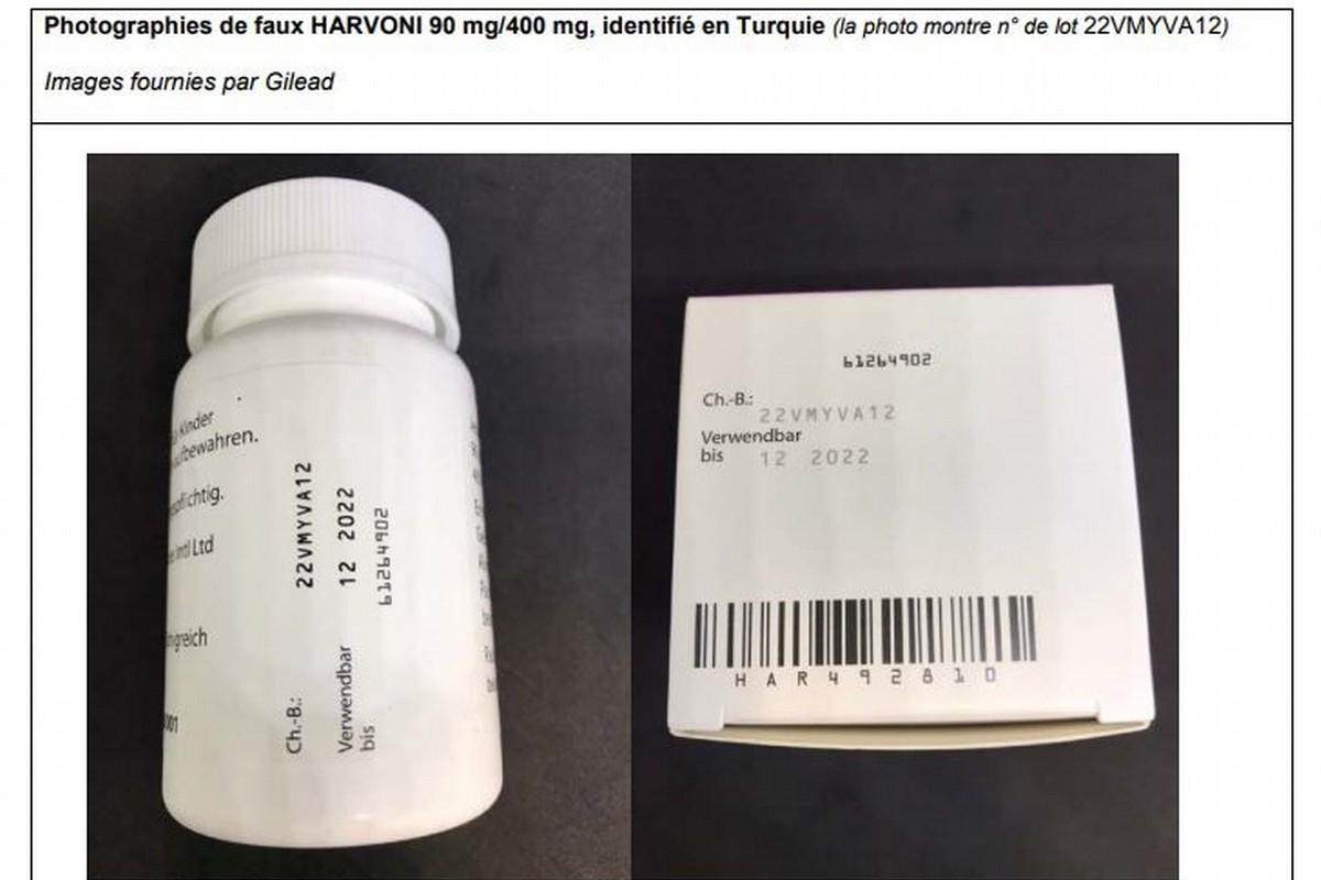 Ecco la foto di un Harvoni contraffatto scoperto in Turchia