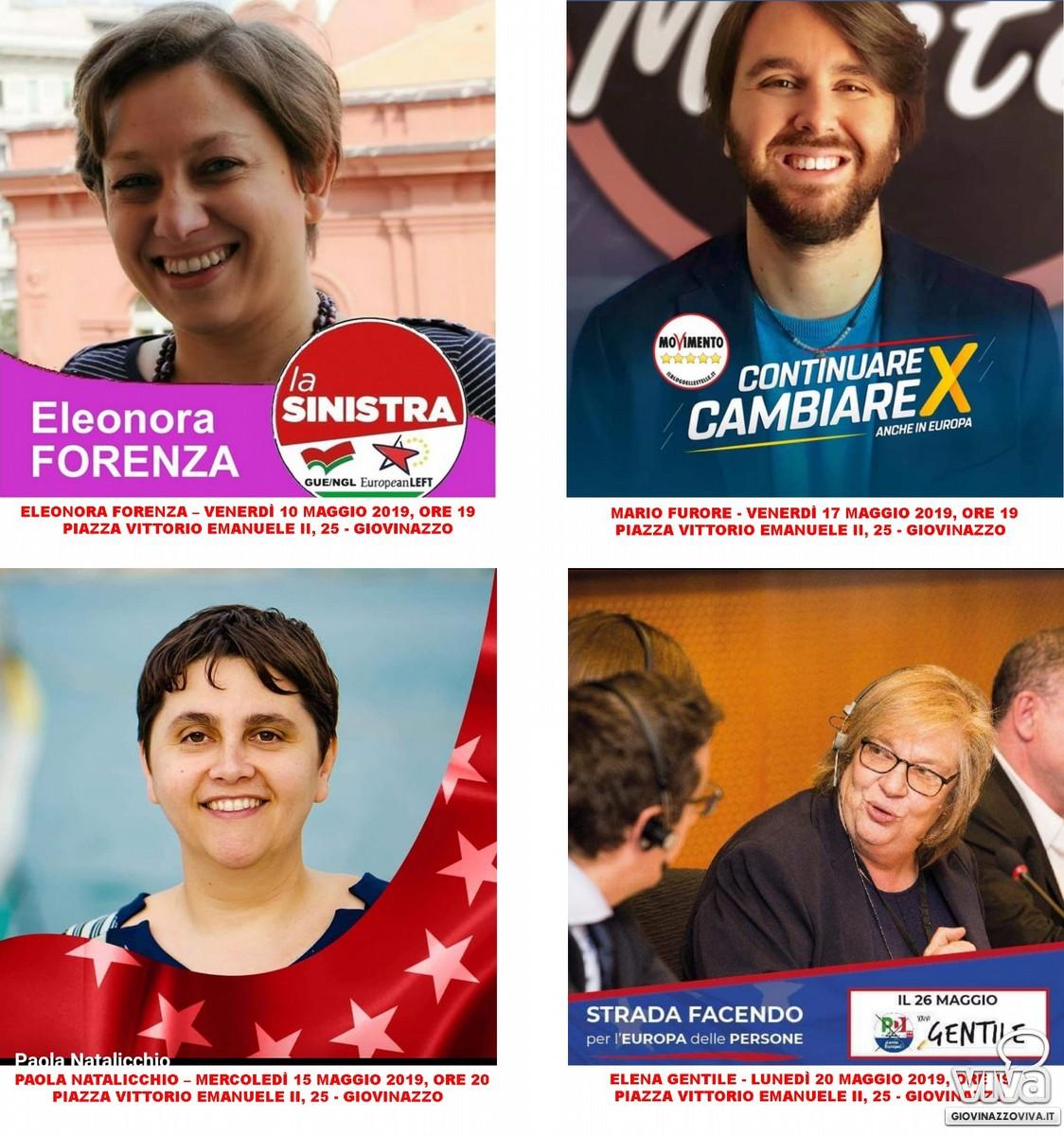 I quattro candidati invitati