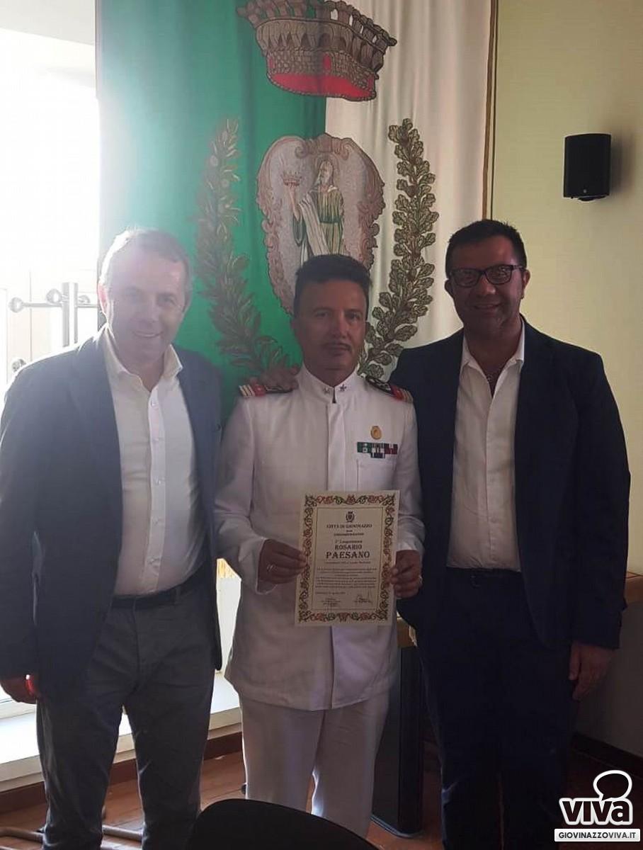 Rosario Paesano premiato da sindaco e presidente