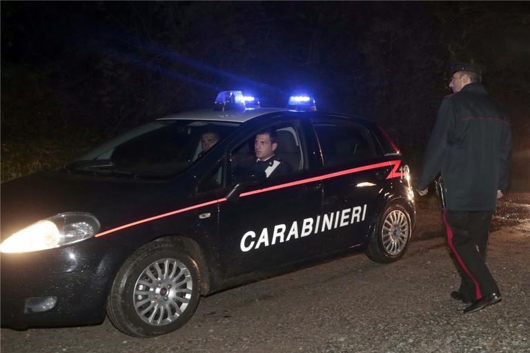 L'arrivo dei Carabinieri