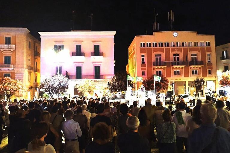 PVA in piazza. <span>Foto PVA</span>