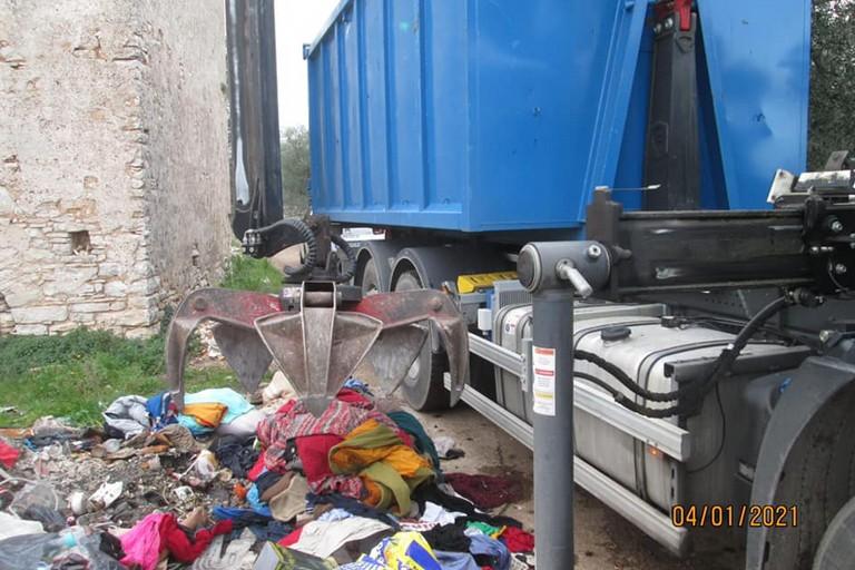 I rifiuti raccolti. <span>Foto Comune di Giovinazzo</span>