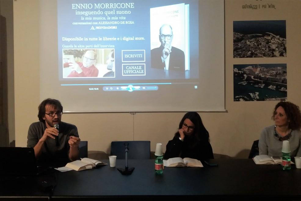 Alessandro De Rosa racconta Ennio Morricone. <span>Foto Gianluca Battista</span>