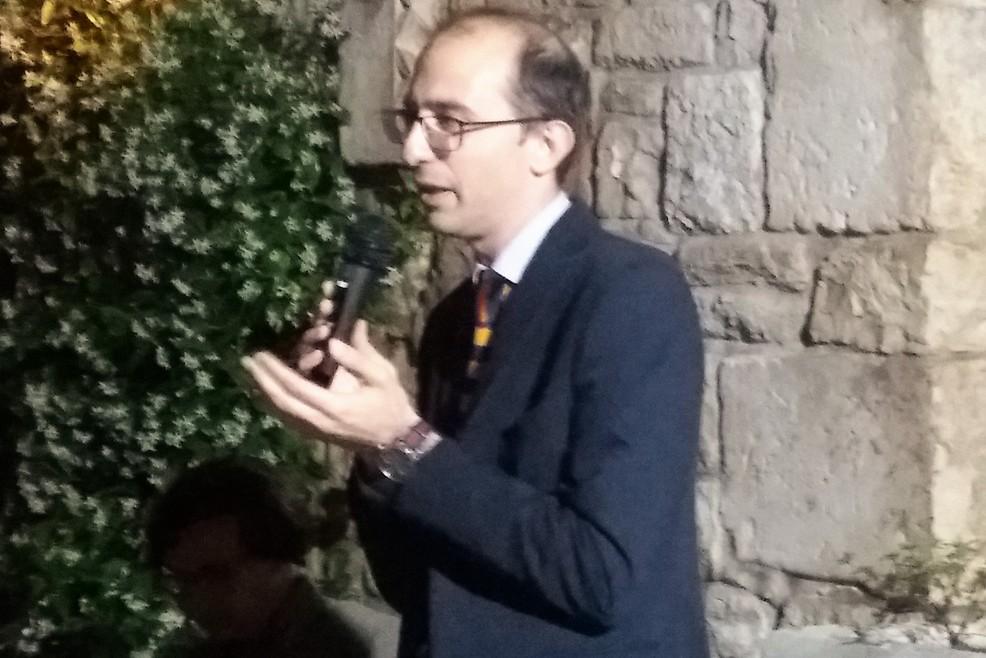 Michele Sollecito durante il suo intervento