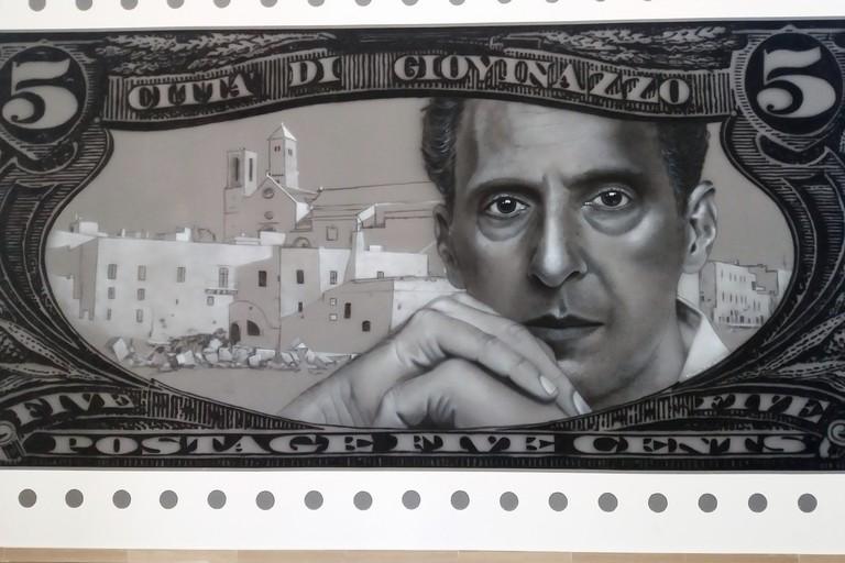 Il murales in Sala Marano. <span>Foto Gianluca Battista</span>