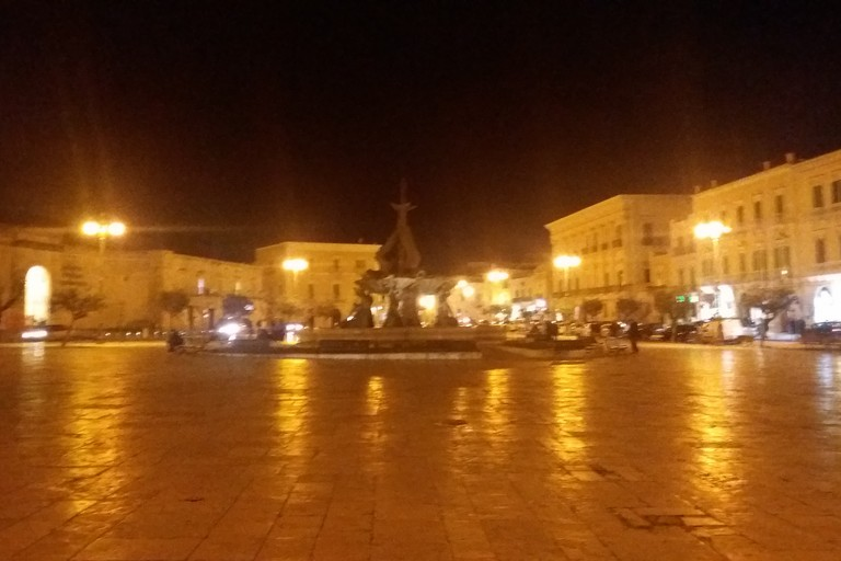 Piazza Vittorio Emanuele II di sera