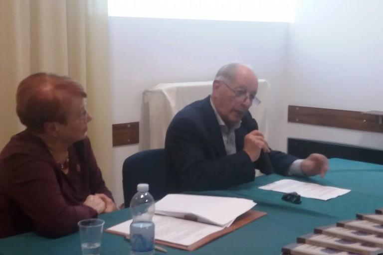 Il prof. Colonna al Circolo Unione. <span>Foto Gianluca Battista</span>