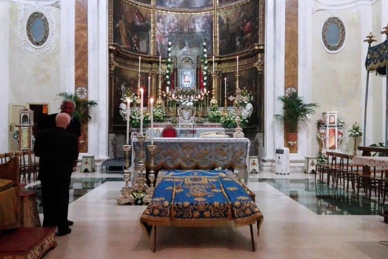 Il Manto della Madonna in Concattedrale. <span>Foto Giuseppe Dalbis</span>