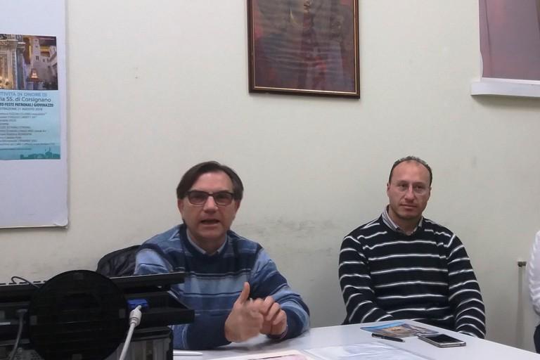 Gaetano Dagostino durante la conferenza stampa