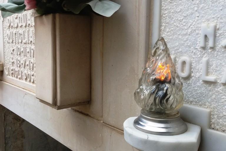 Lampade riaccese nel terzo blocco. <span>Foto Gianluca Battista</span>