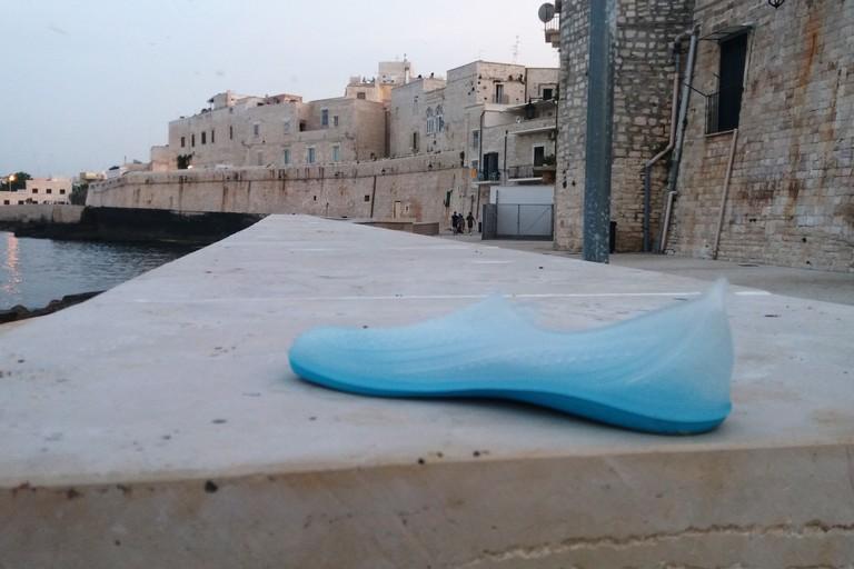 La scarpetta da bella mostra di sé. <span>Foto Gianluca Battista</span>