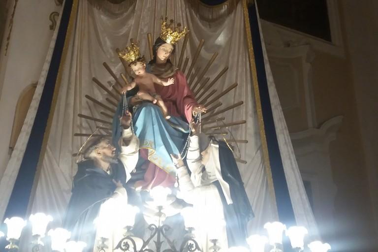 La Madonna del Rosario. <span>Foto Gianluca Battista</span>