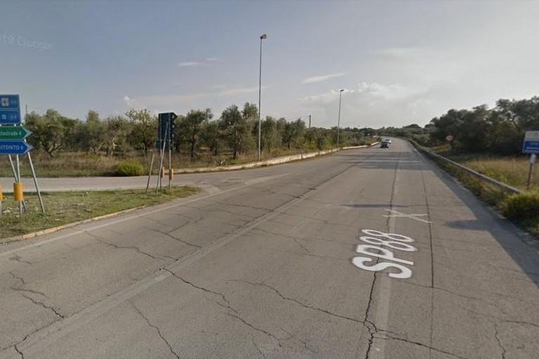 La strada provinciale 88 per Bitonto
