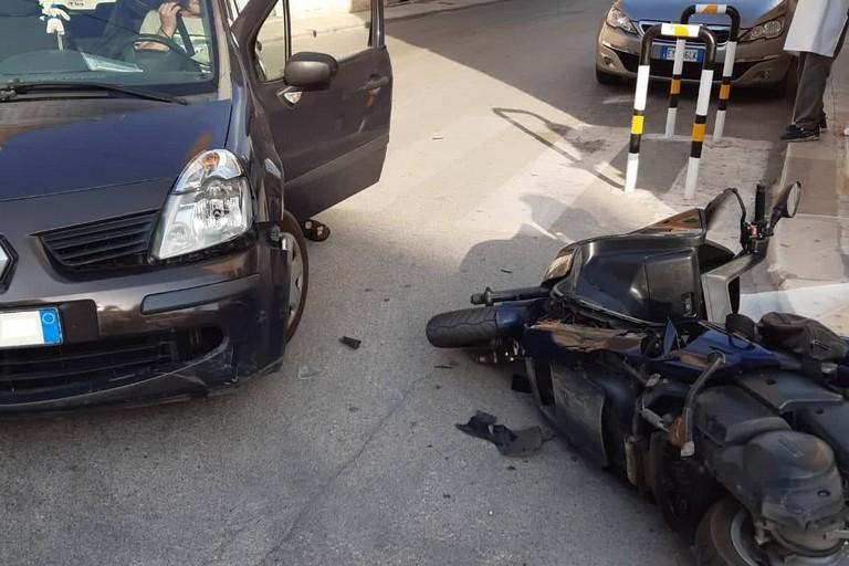 L'incidente stradale avvenuto in corso Roma