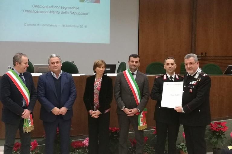 Il maresciallo Paolo Bartoli è Cavaliere della Repubblica