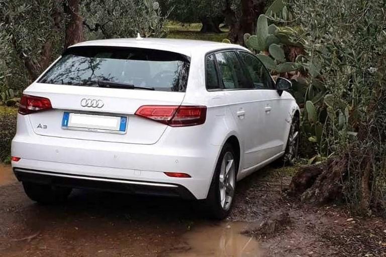 L'Audi A3 recuperata dalle Guardie Campestri