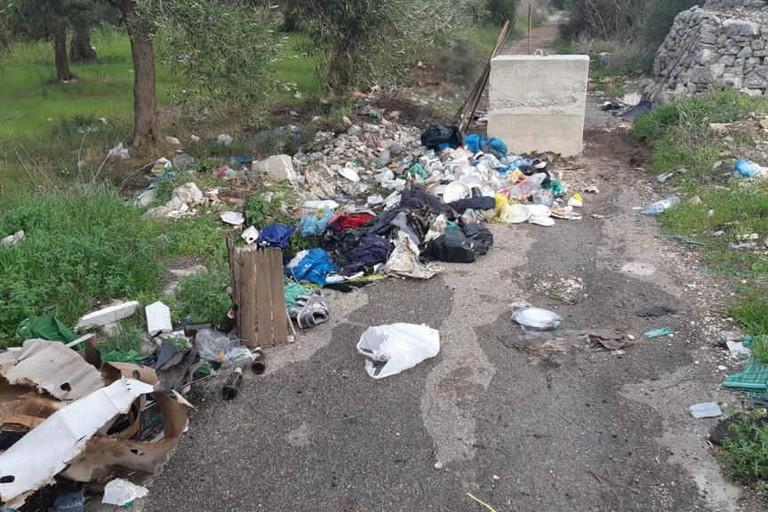 I rifiuti abbandonati nella lama Castello
