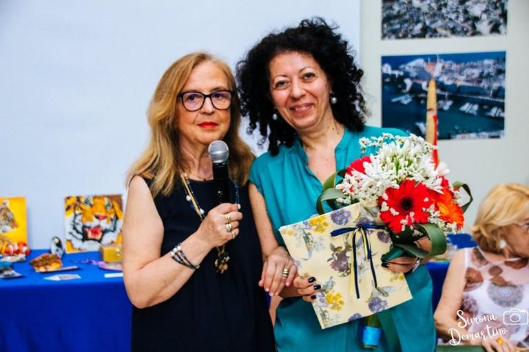 Wanda Massari con Marzia Morva. <span>Foto Simona Demartino</span>