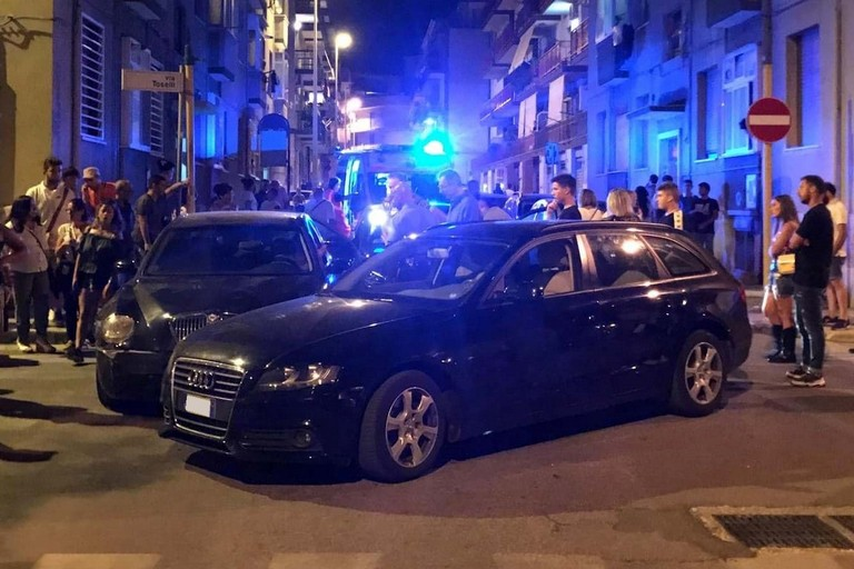 L'incidente stradale avvenuto in via Firenze