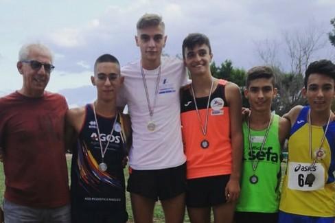 Il podio dell'Atletica Fiamma Giovinazzo