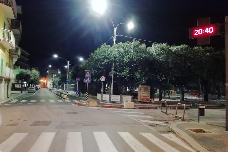 Via Daconto angolo piazza Garibaldi. <span>Foto Giuseppe Palmiotto</span>