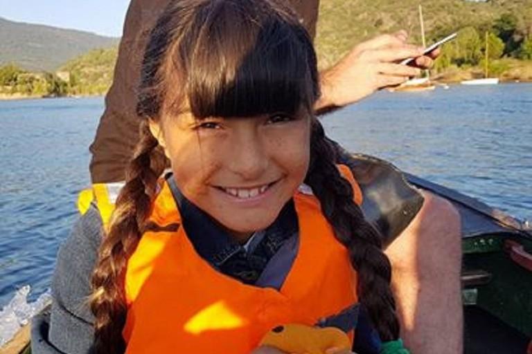 La piccola Alessandra Lacalamita