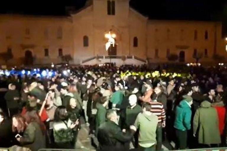 Il concerto di Junior V in piazza Vittorio Emanuele II