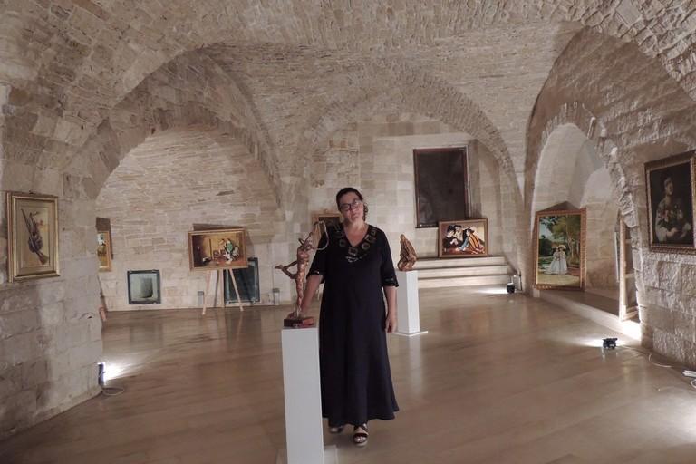 Antonella Merra nelle sale del Bastione