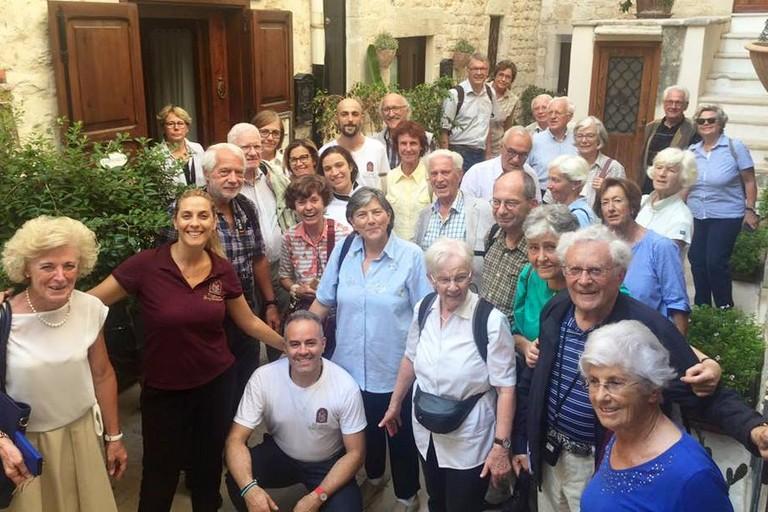 La comitiva austriaca in vico Freddo. <span>Foto H.S.D. </span>