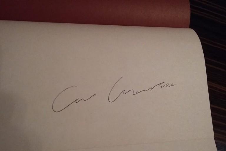 Il raro autografo di Ennio Morricone
