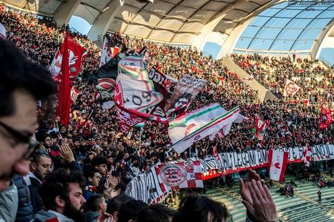 La curva Nord di Bari