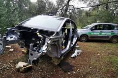 Auto rubata e smontata: una Opel Crossland X cannibalizzata