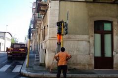 Installati i nuovi semafori all'incrocio tra via Daconto, via Balilla e via Marziani