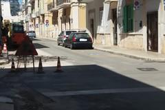Via Lupis, operai al lavoro per ripristinare l'illuminazione pubblica