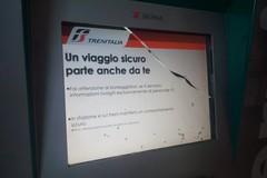 In stazione vandalizzate le biglietterie self service