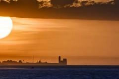 La Cattedrale di Trani vista da Giovinazzo: giochi di luce e prospettive al tramonto