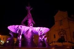 La Fontana dei Tritoni si tinge di rosa: l'immagine di Giovinazzo fa il giro...del mondo