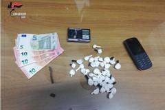 Fermati in auto con 38 dosi di cocaina. Arrestati dai Carabinieri