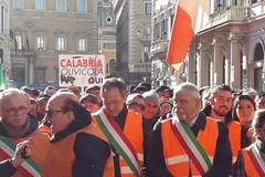 Spadavecchia a Roma con i gilet arancioni: «Ora attendiamo i fatti»