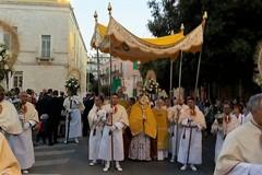 Ieri sera la processione del Corpus Domini