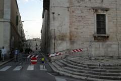 Crollo cornicione IVE: interdetta via Marconi (FOTO)
