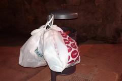 Quelle insopportabili buste appese al cestino di via Sindolfi