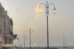 Illuminazione pubblica nuova sul Lungomare di Ponente a Giovinazzo