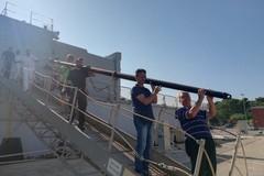 L'asta di bandiera per la nuova Villa Comunale donata da Nave Granatiere